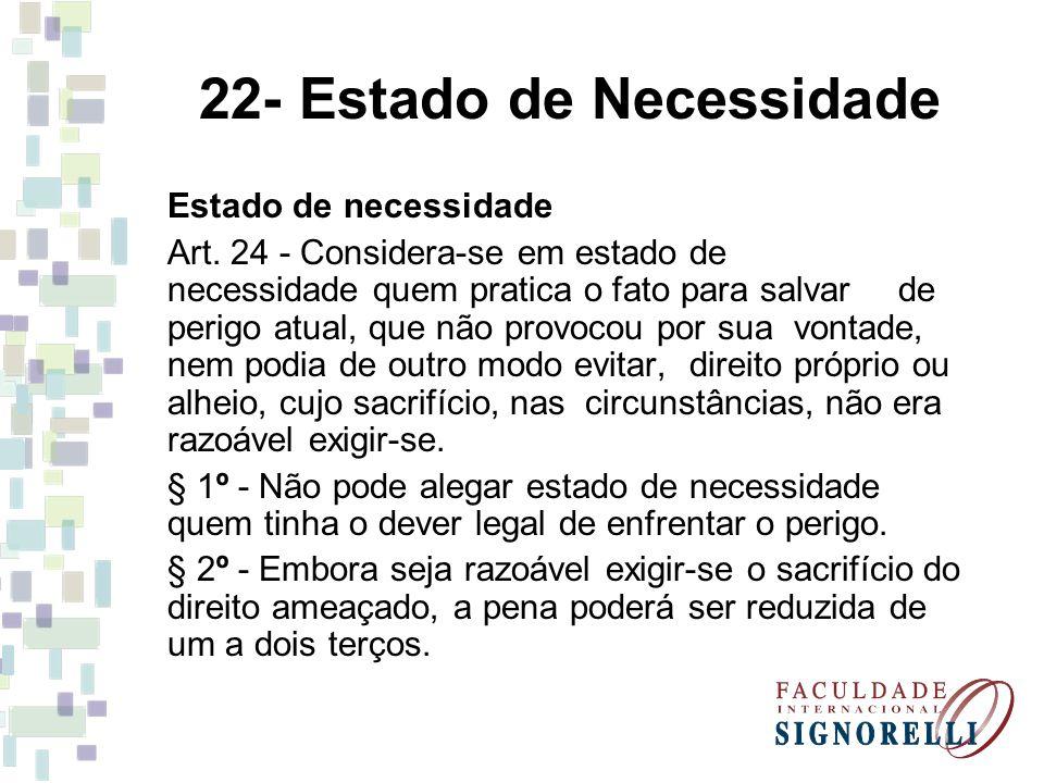 22- Estado de Necessidade