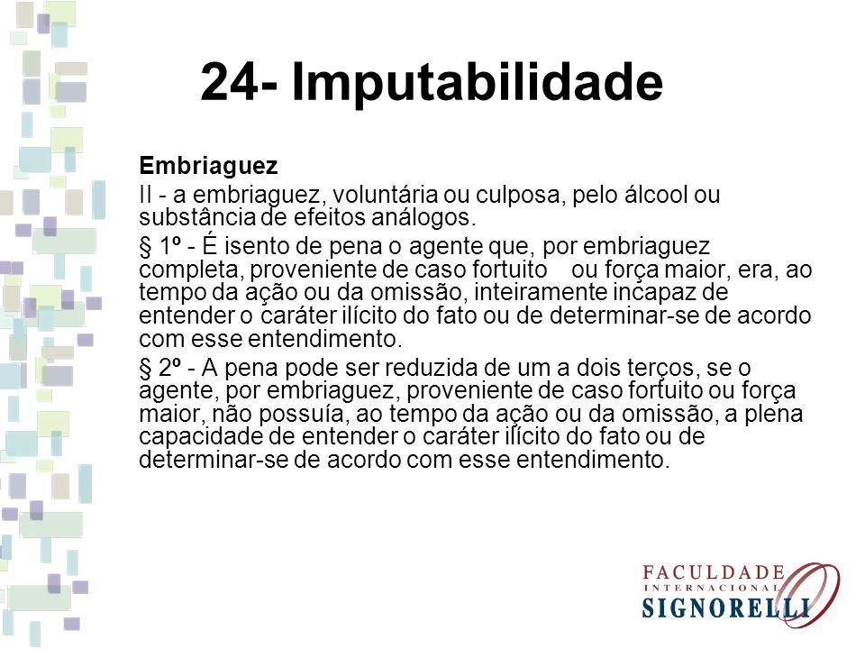 24- Imputabilidade Embriaguez