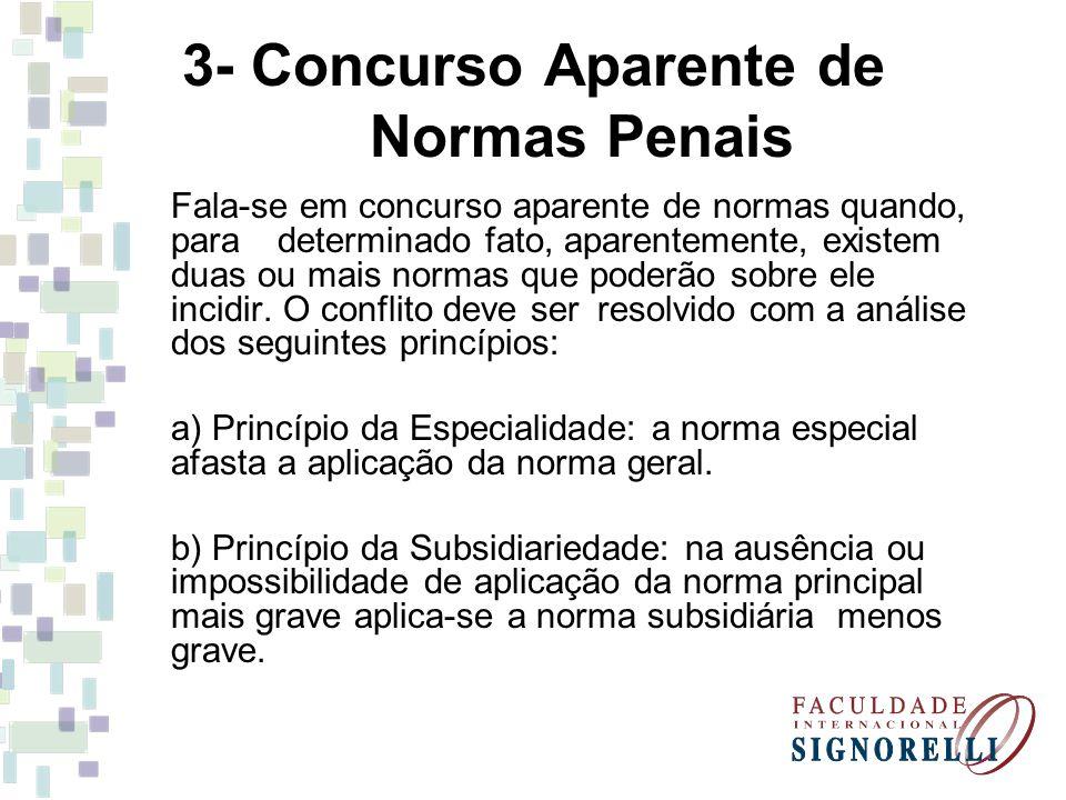 3- Concurso Aparente de Normas Penais