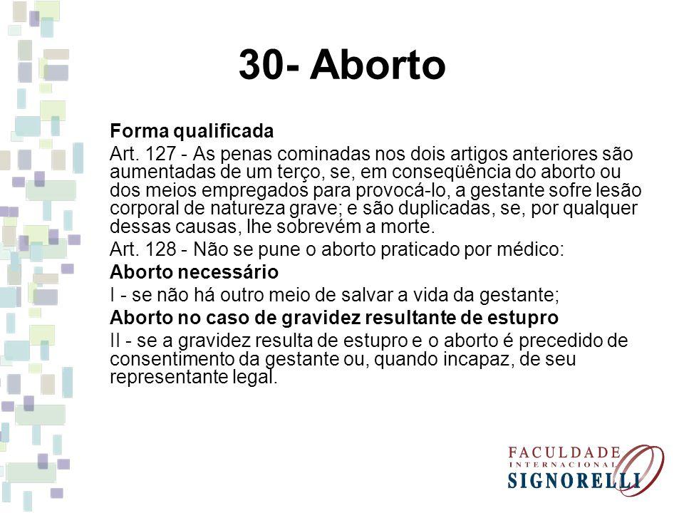 30- Aborto Forma qualificada