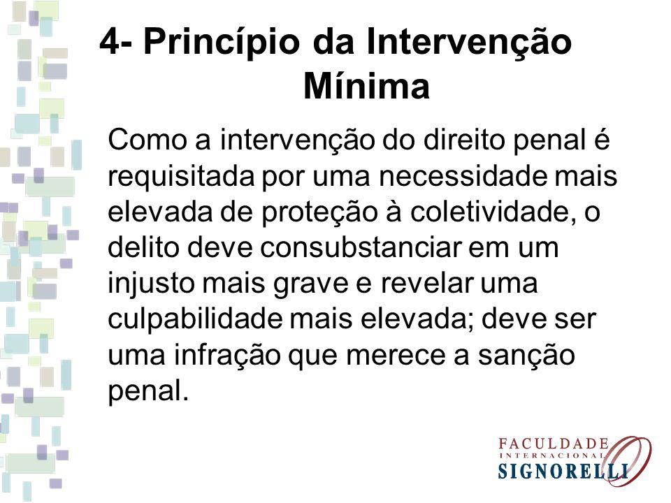 4- Princípio da Intervenção Mínima