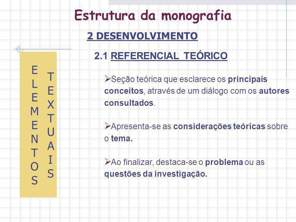 ETAPAS DA ELABORAÇÃO DE UM PROJETO DE PESQUISA