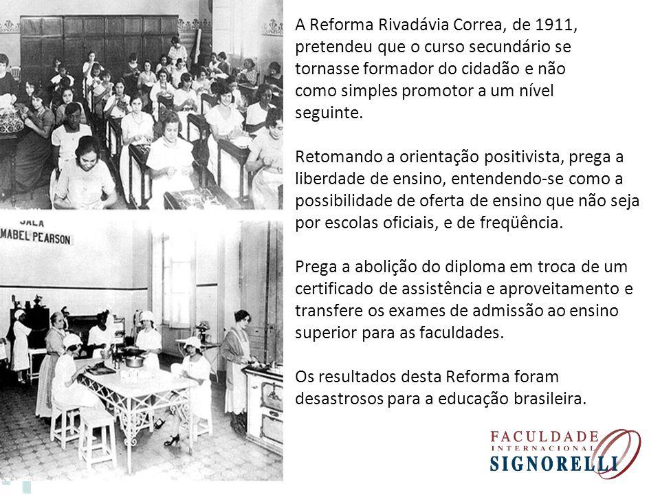 A Reforma Rivadávia Correa, de 1911,