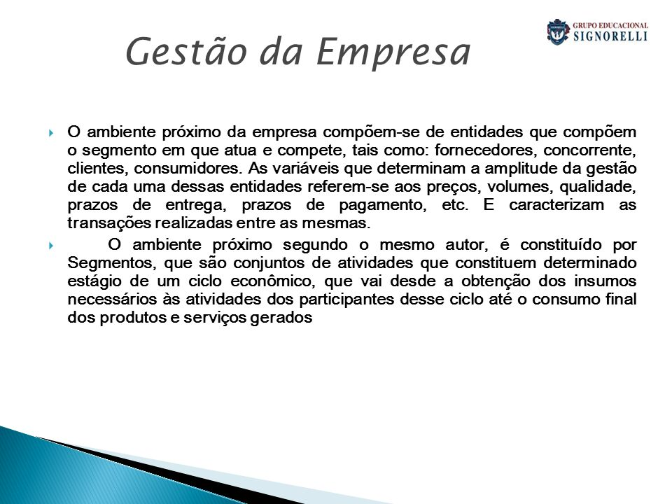 Gestão da Empresa