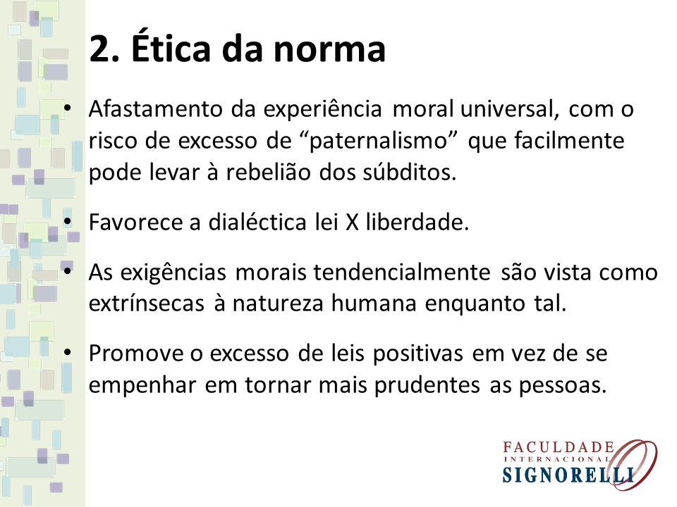 2. Ética da norma