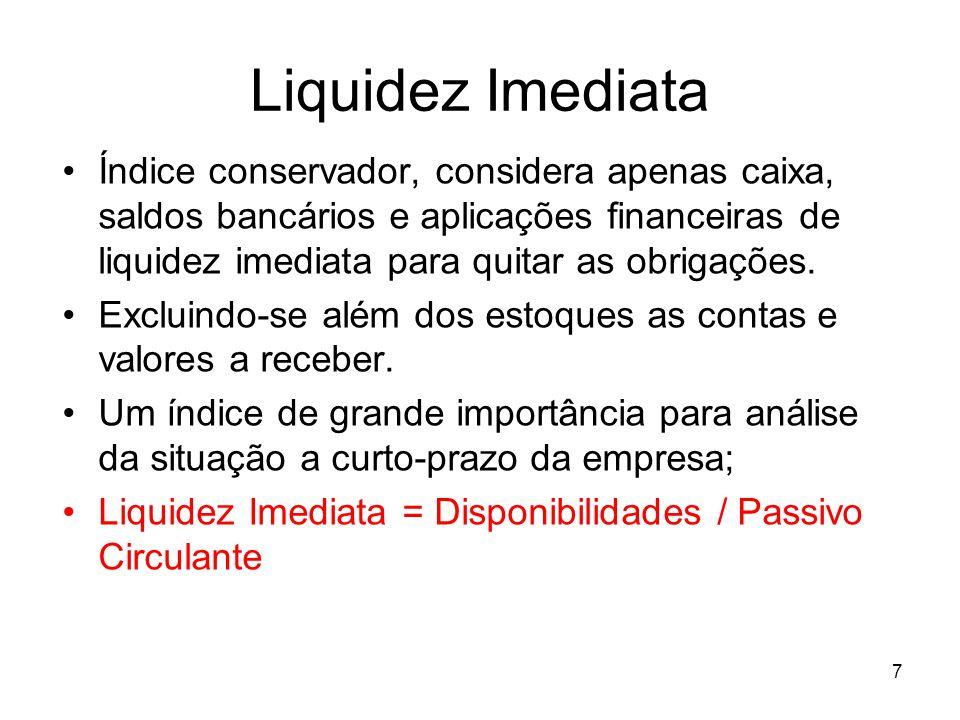 Liquidez Imediata