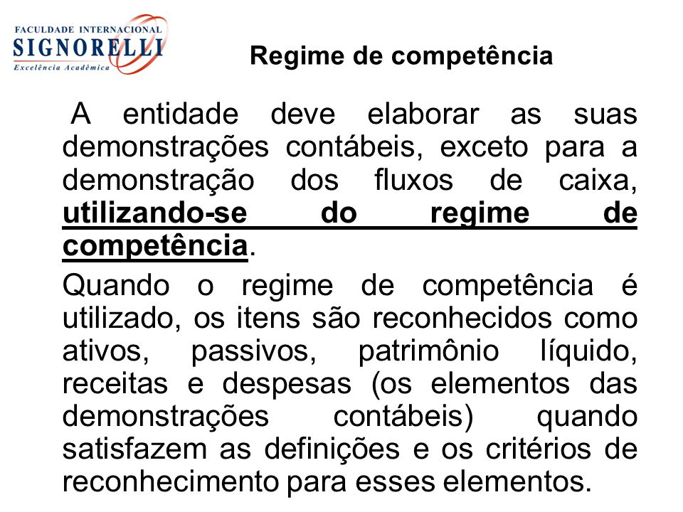 Regime de competência