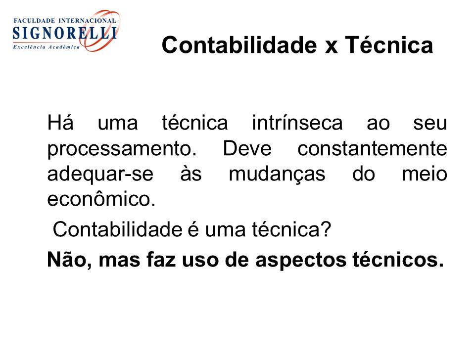 Contabilidade x Técnica