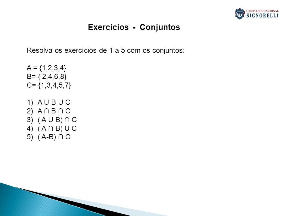 Exercícios - Conjuntos