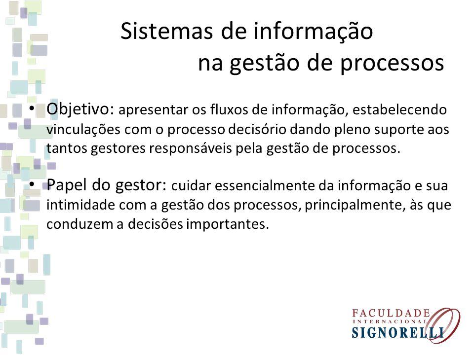 Sistemas de informação na gestão de processos