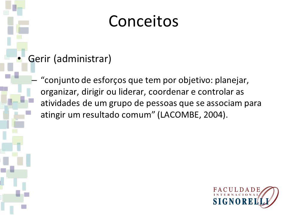 Conceitos Gerir (administrar)