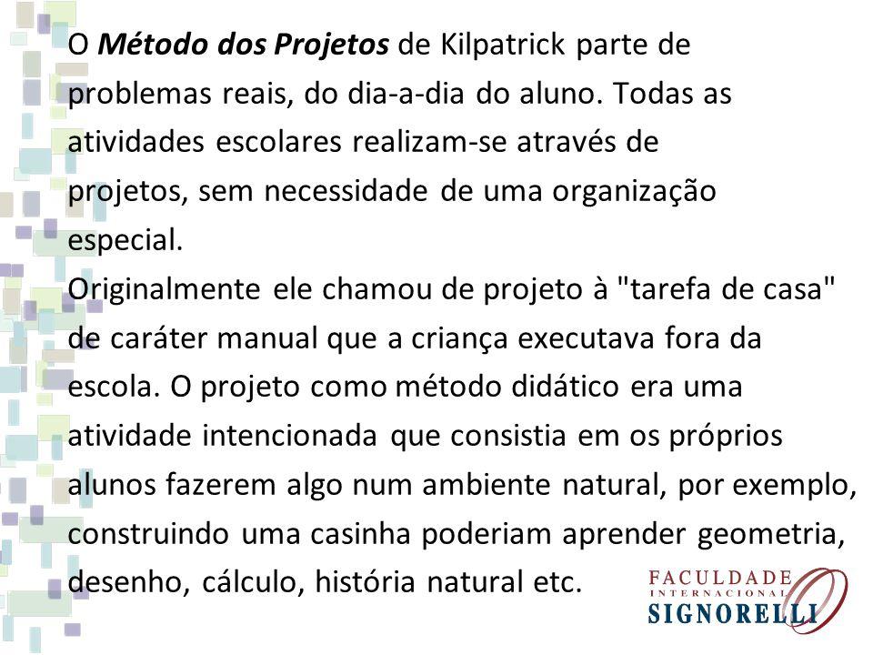 O Método dos Projetos de Kilpatrick parte de