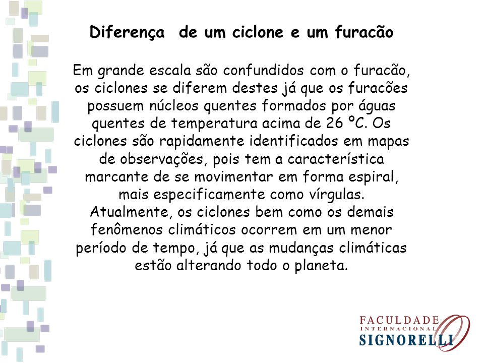 Diferença de um ciclone e um furacão
