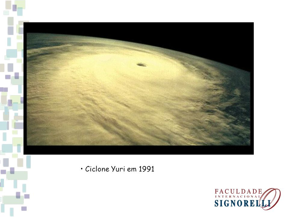 • Ciclone Yuri em 1991