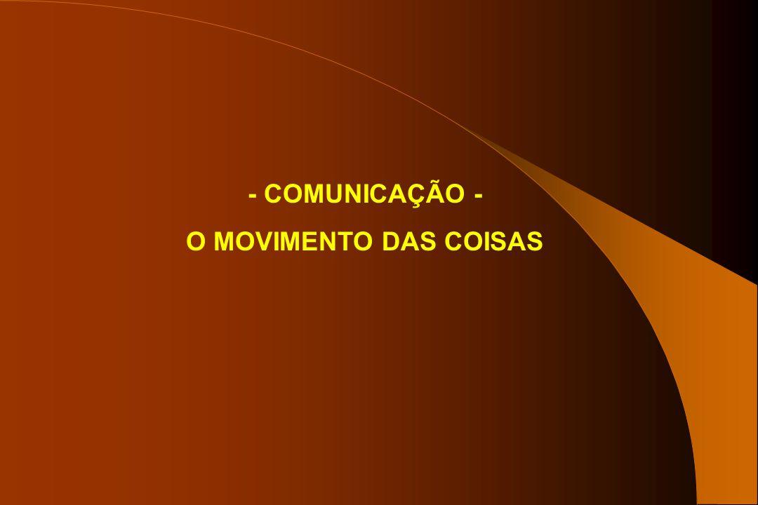 - COMUNICAÇÃO - O MOVIMENTO DAS COISAS