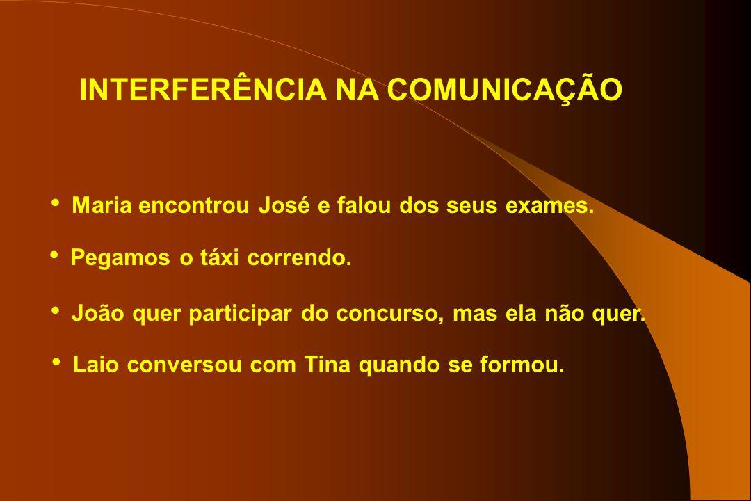 INTERFERÊNCIA NA COMUNICAÇÃO