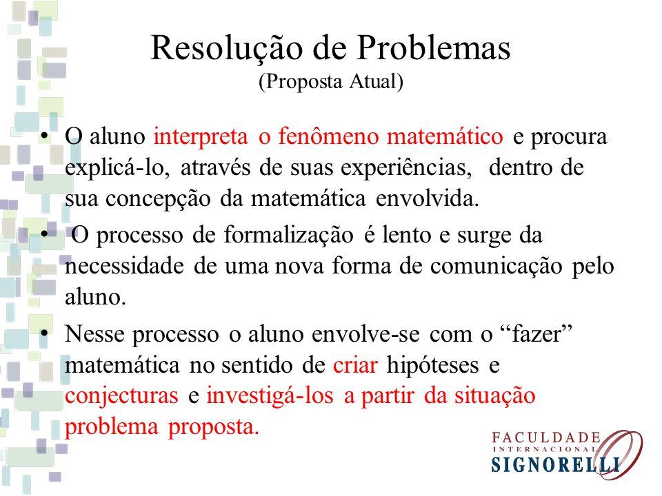 Resolução de Problemas (Proposta Atual)