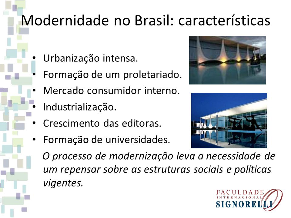 Modernidade no Brasil: características