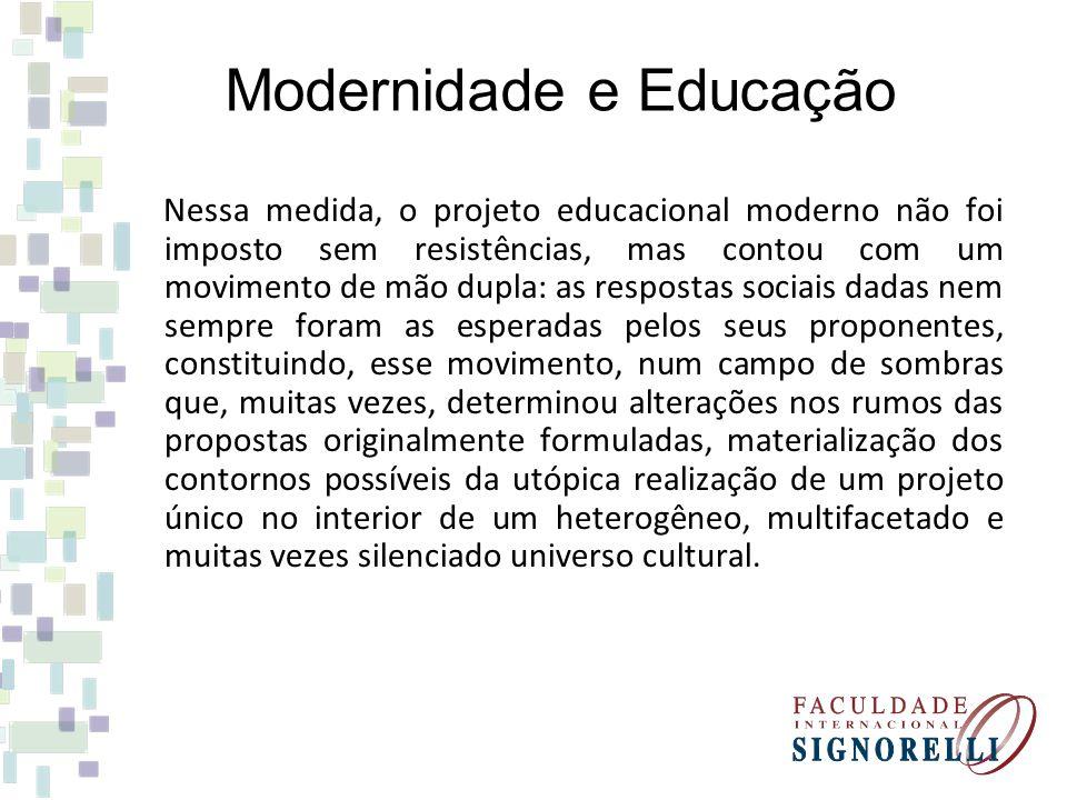 Modernidade e Educação
