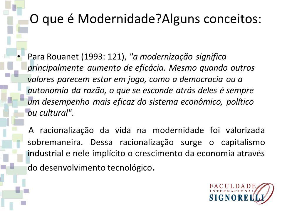 O que é Modernidade Alguns conceitos: