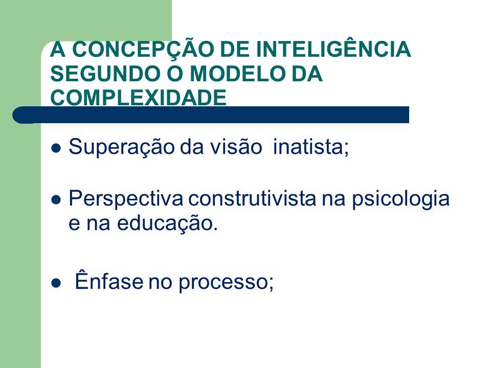 A CONCEPÇÃO DE INTELIGÊNCIA SEGUNDO O MODELO DA COMPLEXIDADE