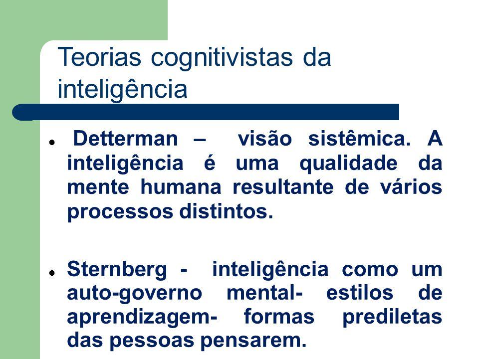 Teorias cognitivistas da inteligência