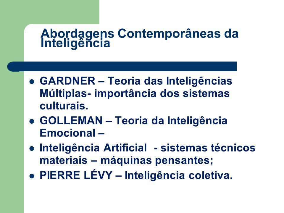 Abordagens Contemporâneas da Inteligência
