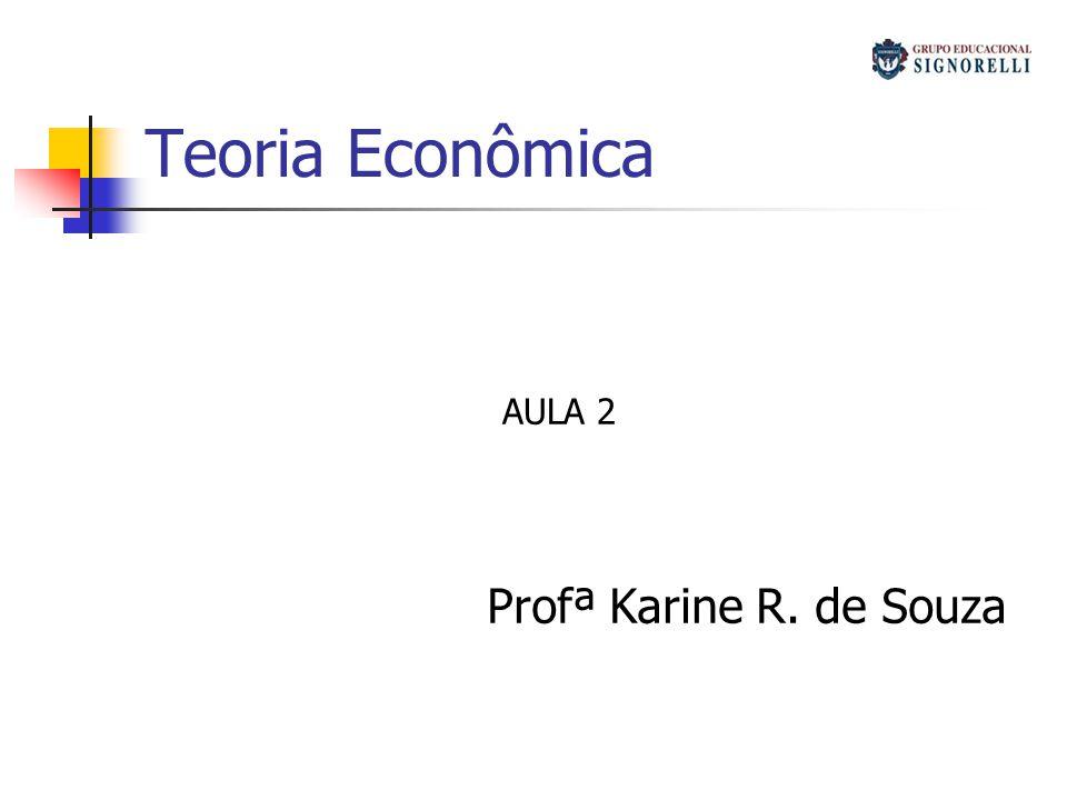 Teoria Econômica AULA 2 Profª Karine R. de Souza