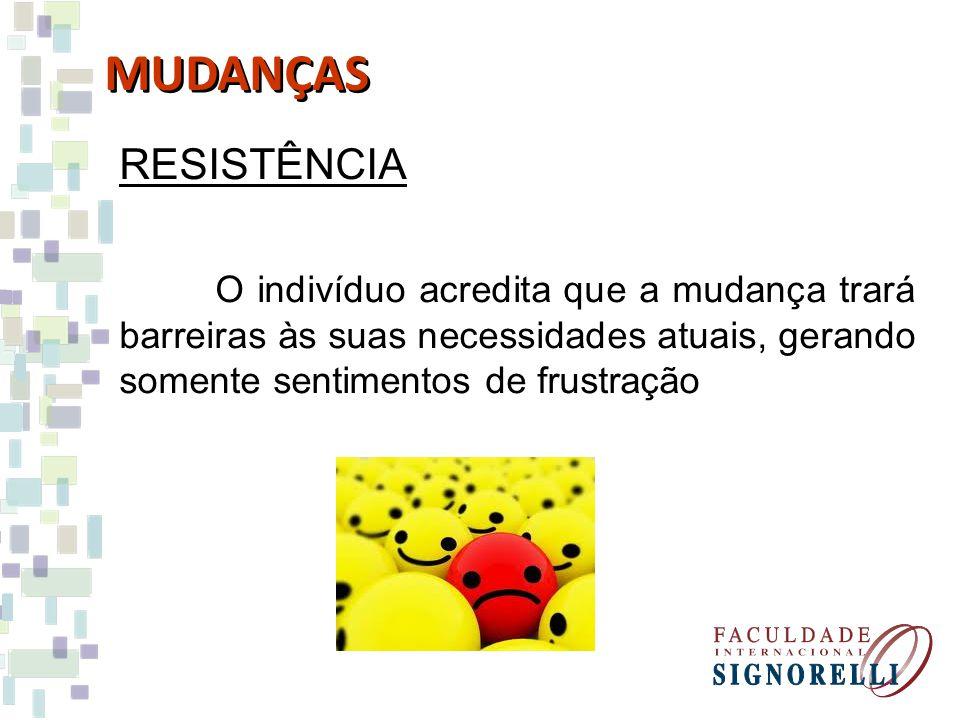 MUDANÇAS RESISTÊNCIA.