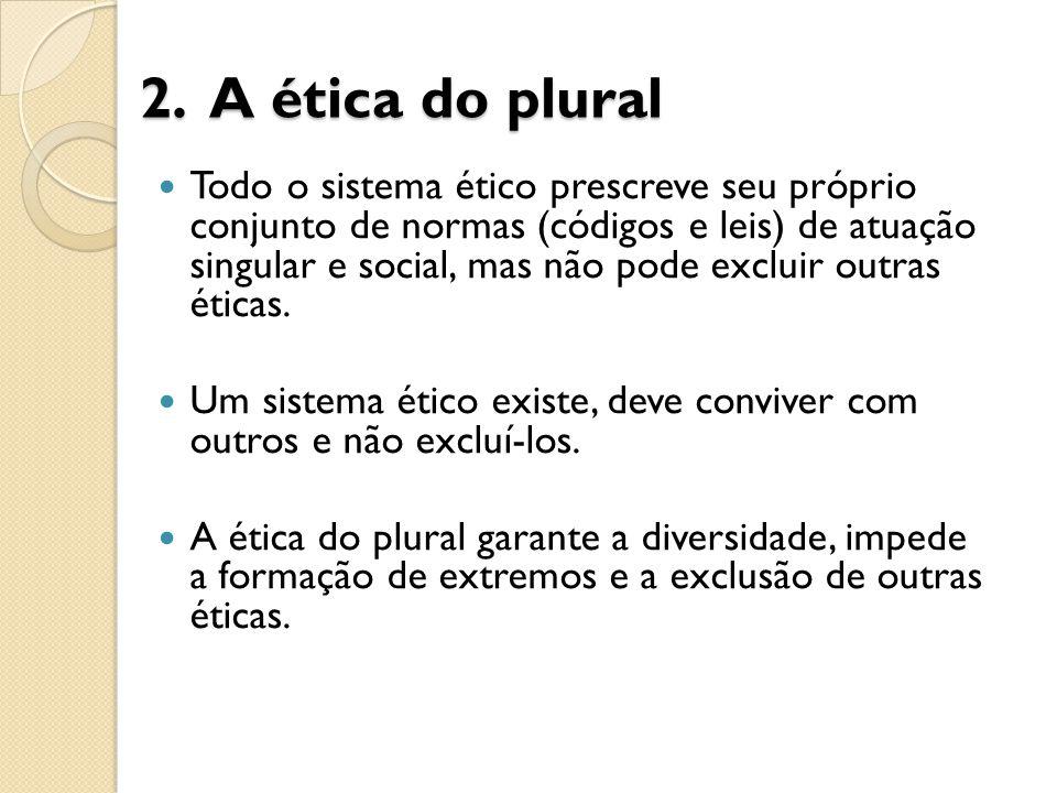 2. A ética do plural