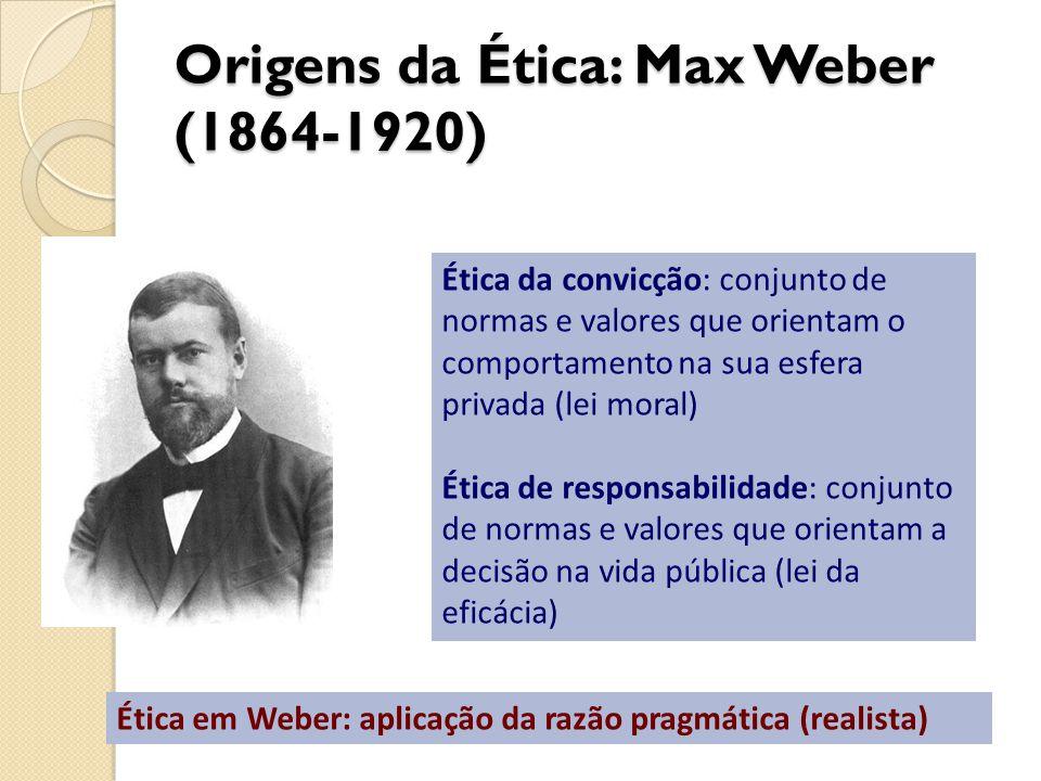 Origens da Ética: Max Weber (1864-1920)