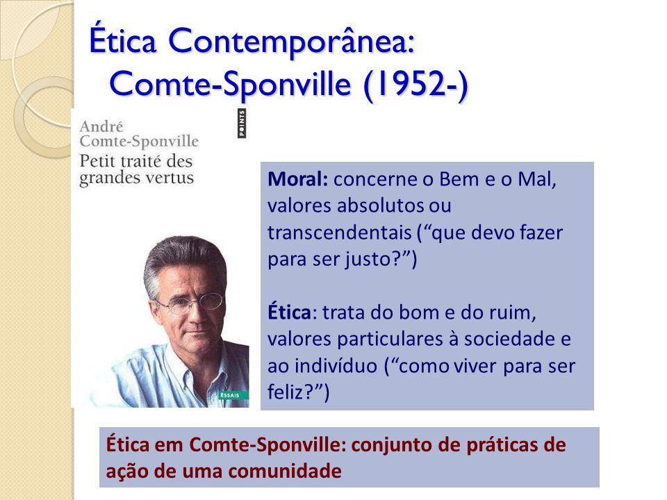 Ética Contemporânea: Comte-Sponville (1952-)