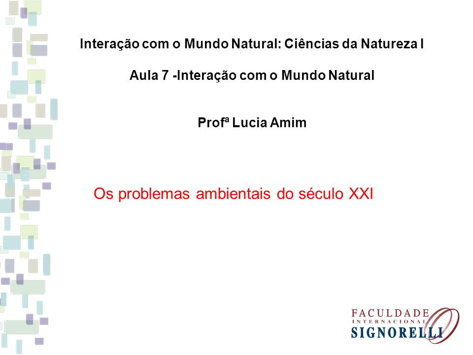 Os problemas ambientais do século XXI