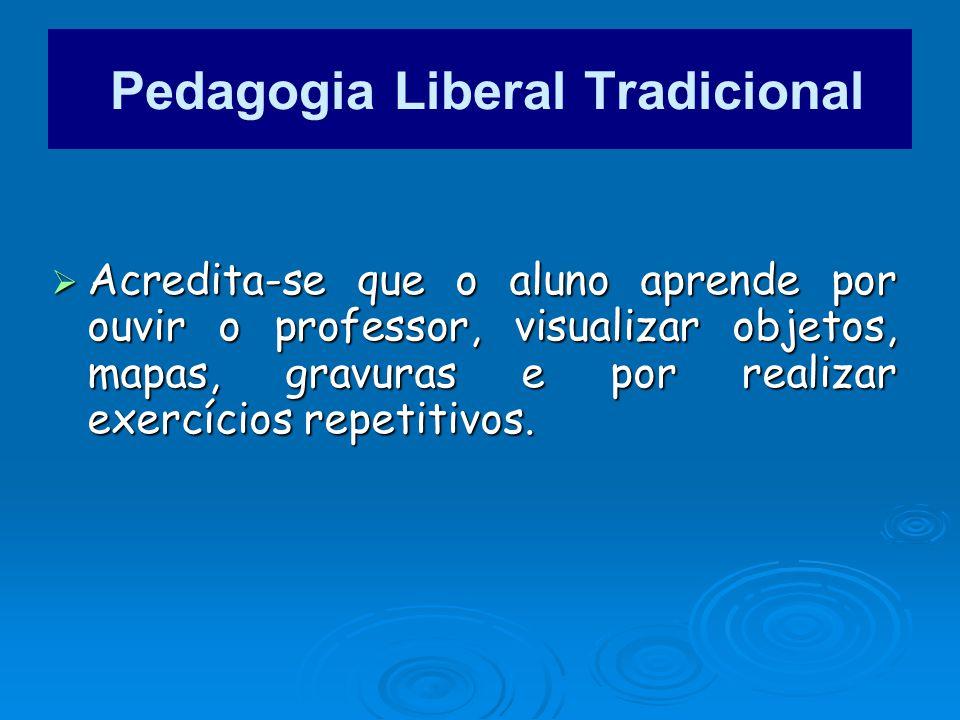 Pedagogia Liberal Tradicional
