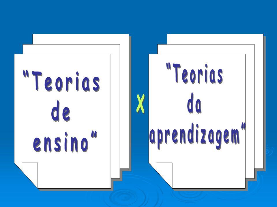 Teorias da aprendizagem Teorias de ensino x