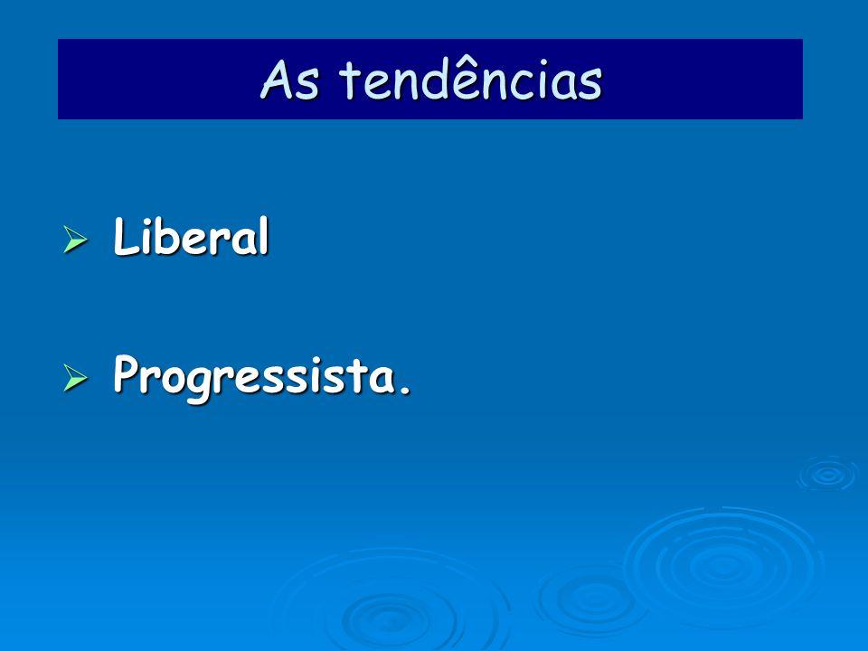 As tendências Liberal Progressista.