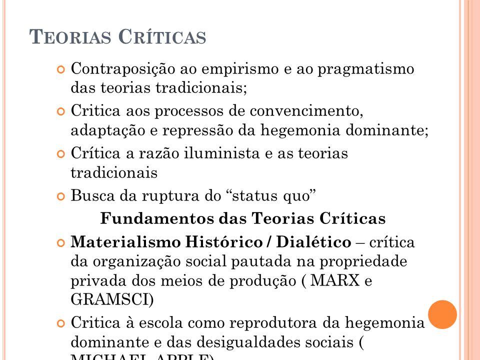 Fundamentos das Teorias Críticas