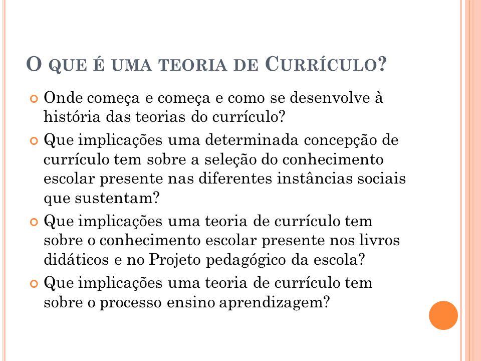 O que é uma teoria de Currículo