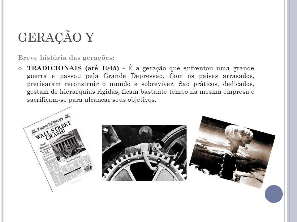 GERAÇÃO Y Breve história das gerações:
