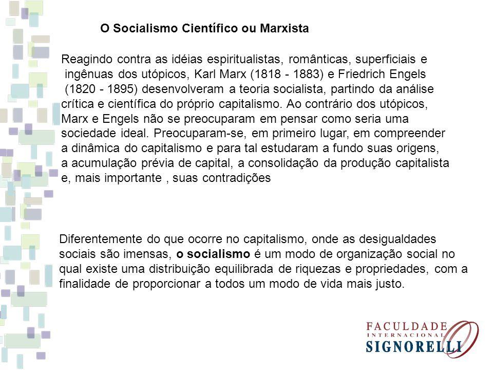 O Socialismo Científico ou Marxista