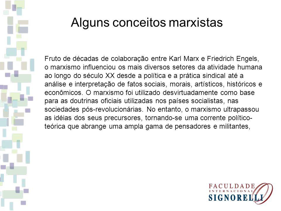 Alguns conceitos marxistas