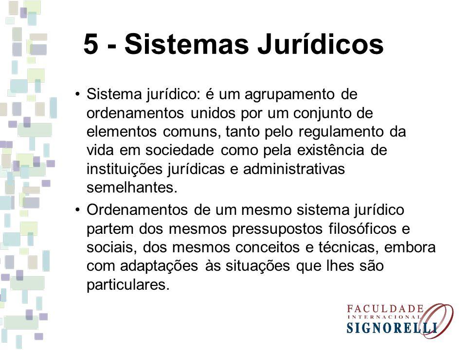 5 - Sistemas Jurídicos