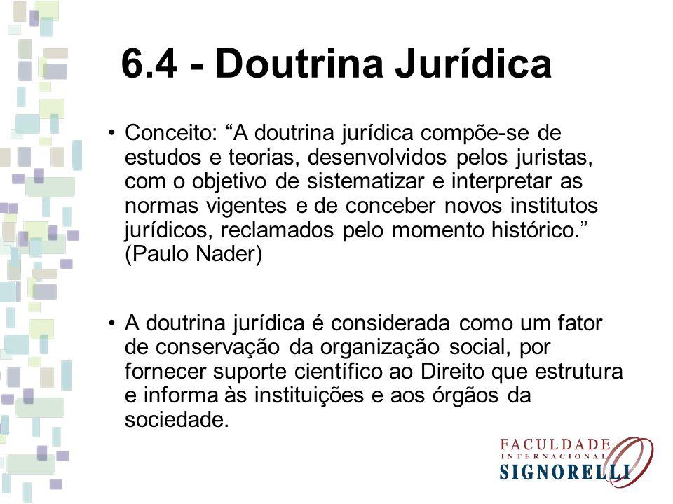 6.4 - Doutrina Jurídica
