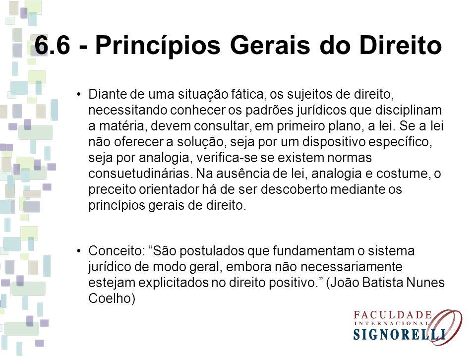 6.6 - Princípios Gerais do Direito
