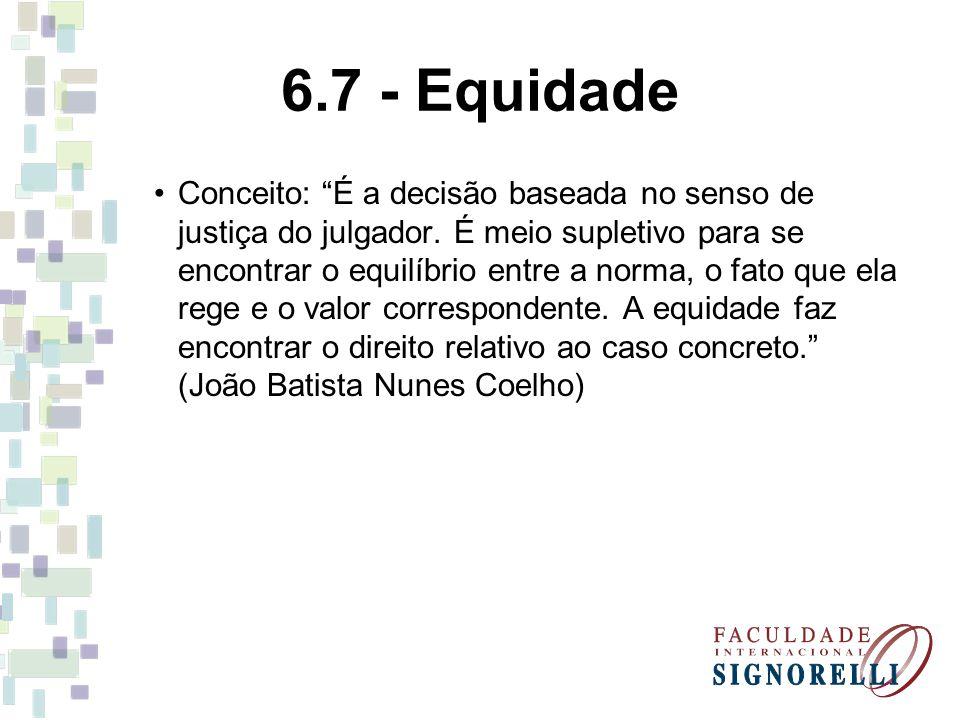6.7 - Equidade