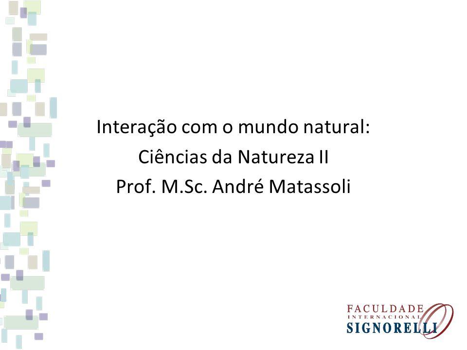 Interação com o mundo natural: Ciências da Natureza II Prof. M. Sc