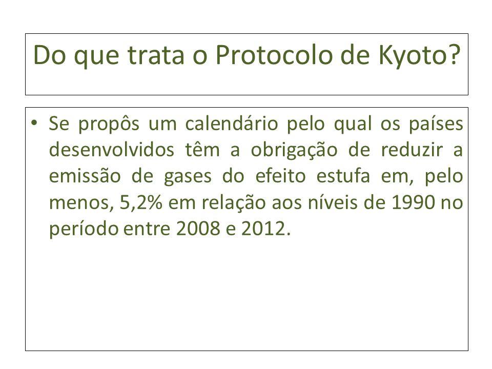 Do que trata o Protocolo de Kyoto