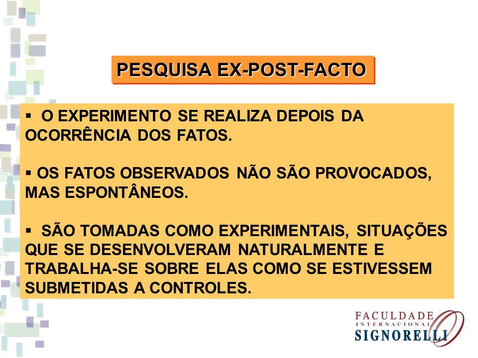 PESQUISA EX-POST-FACTO