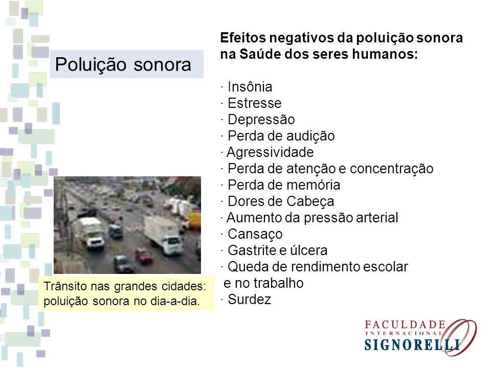 Efeitos negativos da poluição sonora na Saúde dos seres humanos:
