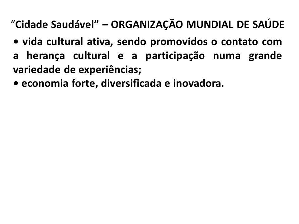 Cidade Saudável – ORGANIZAÇÃO MUNDIAL DE SAÚDE